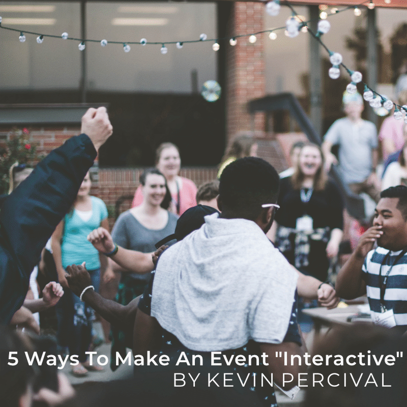 5 ways to Make an Event Interactive